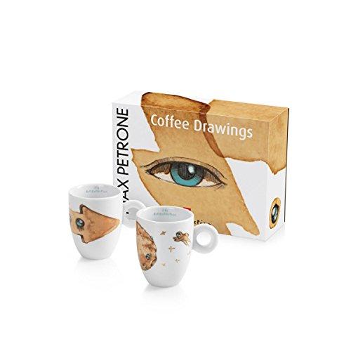 Illy MAX PETRONE Collection 2er Set Mug/Kaffeetasse im Geschenkset