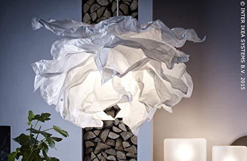 IKEA KRUSNING Hängeleuchtenschirm in weiß; (85cm)