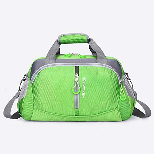 SYFO Nylon bag fitness fashion, travel bags Unisex, Women luggage bag, bag big weekend, female organizer, wholesale sales to the XA712WB (Color : Green as shown)
