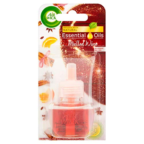 Air Wick Essential Oils Plug in Refill Air Freshener Mulled...