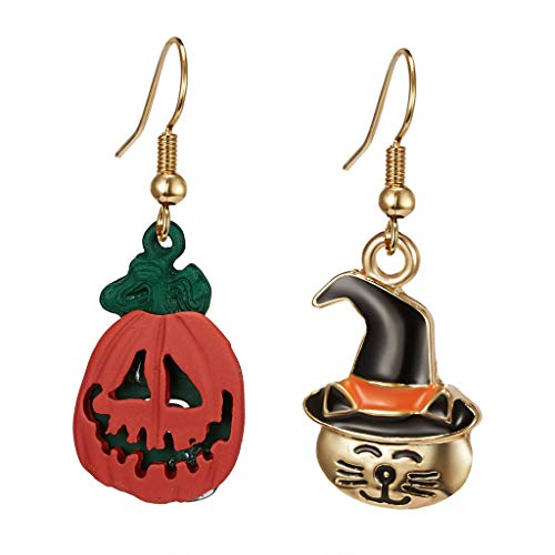 meidexian888 Halloween Theme Drop Earrings Lightweight Halloween Costume Party Favors Decorations Christmas Earrings Xmas Tree Tassel Hook Drop Dangle Earrings