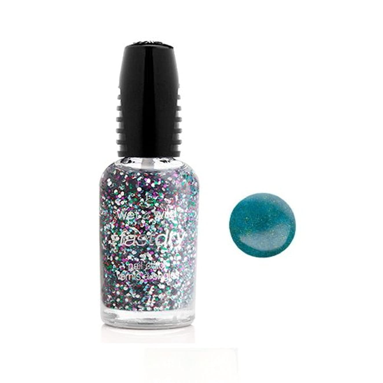 唇独特の自由WET N WILD Fastdry Nail Color - Teal of Fortune (並行輸入品)