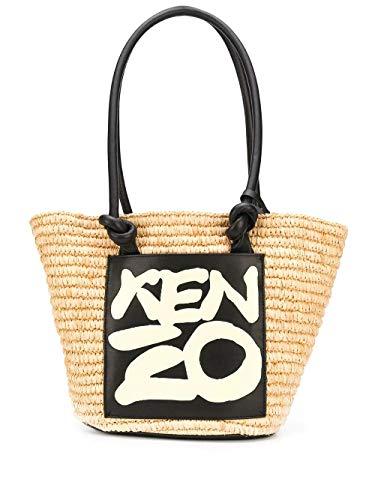 Luxury Fashion   Kenzo Woman FA52SA500B0903 Beige Canvas Tote   Spring Summer 20
