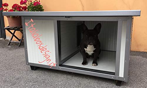 ITALIA BOX DESIGN Caseta con porche pequeña para perros