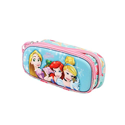 Karactermania Princesas Disney Beautiful - Estuche Portatodo 3D Doble, Color Multicolor