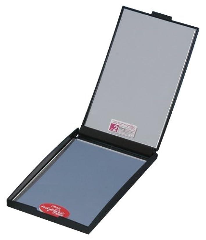 物質メダルイブNZC-02 ナピュア ZOOM UP 両面コンパクトミラー(2倍) メタリックブラック