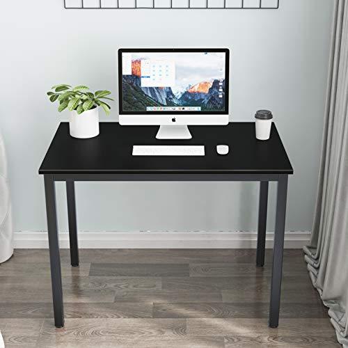 soges Mesa compacta para mesa de cocina, mesa de comedor, mesa de trabajo, color negro, 100 x 60 cm