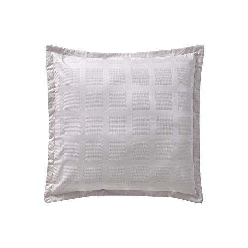 Essix Regain Taie d'oreiller Satin de coton Galet 65 x 65 cm