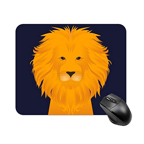 DKISEE rechthoekige muismat Majestic Lion anti-slip rubberen muismat voor laptop, computer en pc, 9.8