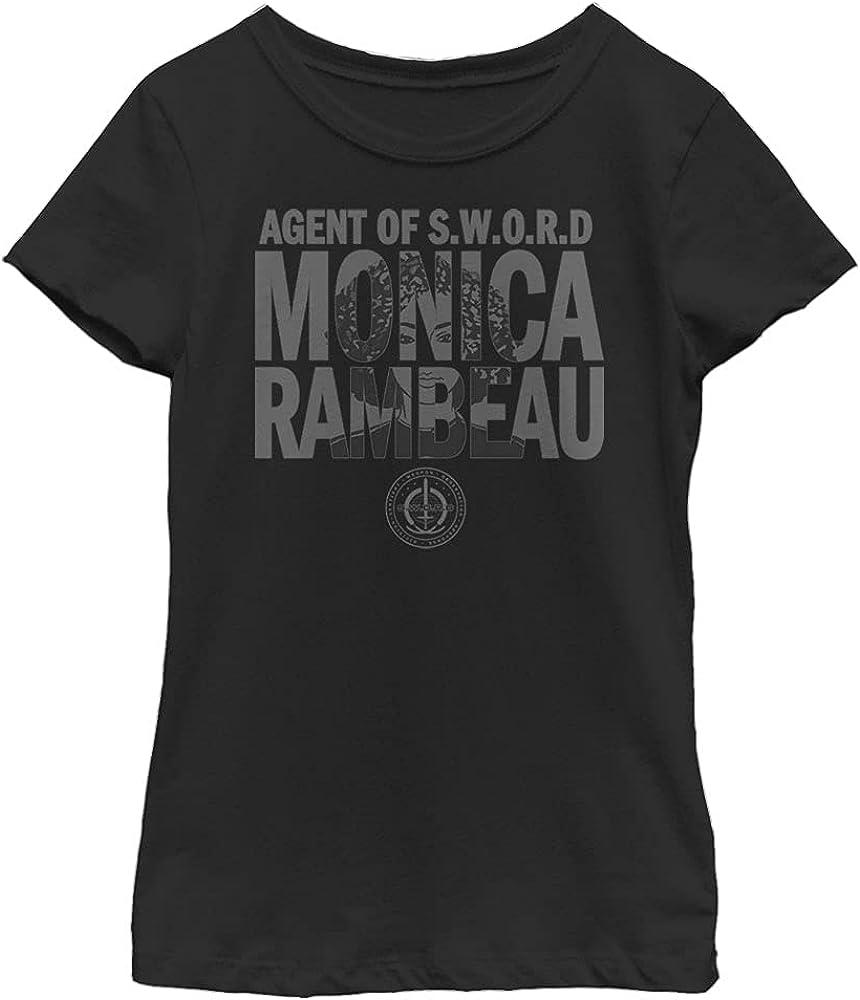 Marvel Likeness Wandavision Agent Rambeau Girl's Solid Crew Tee
