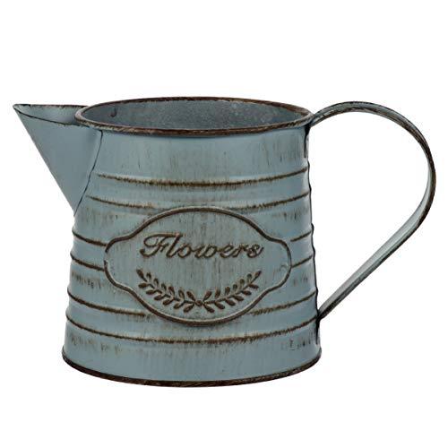 Nicexmas - Vaso rustico shabby chic, in metallo, vaso da latte, stile francese, per...