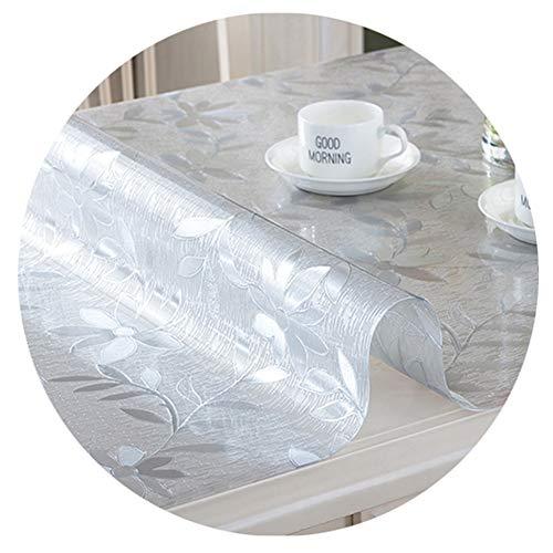 LICHUN Manteles Plata PVC Mantel Suave Grueso Protector De Mesas Rectángulo Almohadillas De Piso Alfombra for Mascotas for Escritorio Jardín Regalo (Color : 2mm, Size : 80x150cm)