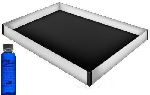 Super Single 48 x 84 12 Mil Hardside Waterbed Safety Liner with a Premium Clear Bottle of 4oz Water Bed Conditoner
