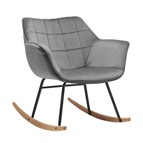Duhome Mecedora diseño Retro Silla de Relax con Brazos Sill