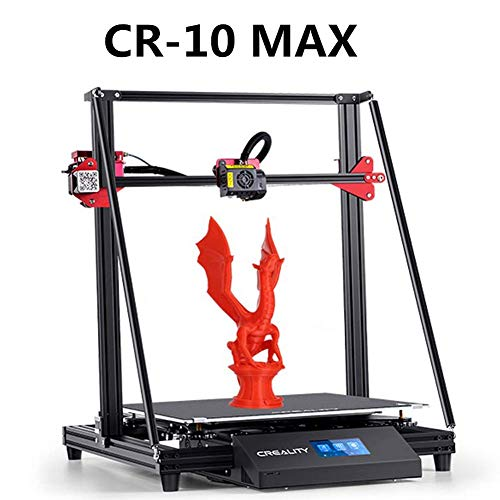 Laecabv CrealityCR-10Max 3D Imprimante 3D Machine Triangle Frame, Auto Leveling, Impression de reprise, Bondtech Extruder Dual Gears, Grand volume de construction 450 x 450 x 470 mm