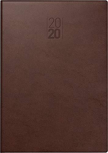 BRUNNEN Buchkalender Modell 797, 2 Seiten = 1 Woche, 168 x 240 mm, Kunstleder-Einband Senegal braun, Kalendarium 2017 (107973070)