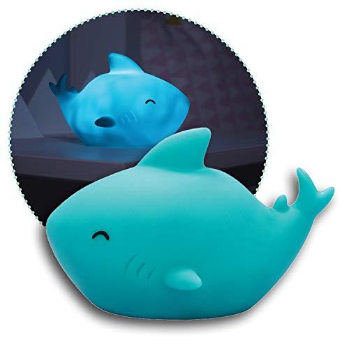 reer lumilu Sea Life Shark, süßes Hai-Nachtlicht, tolles Taufgeschenk, Geburtstags-Geschenk für Jungen und Mädchen, blau, 52303