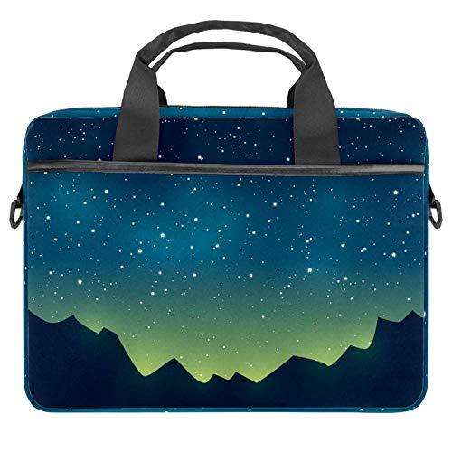 Flat Star Night Laptop Case Canvas Pattern Briefcase Sleeve Laptop Shoulder Messenger Bag Case Sleeve for 13.4-14.5 inch Apple MacBook Laptop Briefcase