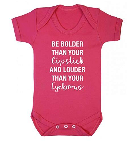 Flox Creative Baby Weste mit Lippenstift Louder Eyebrows Gr. 3-6 Monate, dunkelrosa
