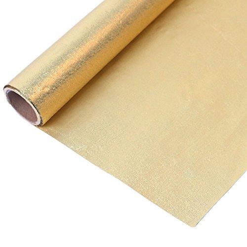 Chytaii Alufolie Papier Aluminium Folie Packpapier Bastelfolie für Süßigkeiten Schkolade Blumen 10M Gold