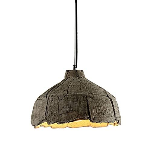 YXLMAONY Lámpara de araña Moderna con Pantalla de Cemento con Acabado de Accesorio de Altura Ajustable para Comedor, Dormitorio, Sala de Estar, Cocina, Isla, Pasillo, Entrada