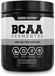 BCAA Powder (Fermented) - 6g Branched Chain Essential Amino Acid Supplement for Improved Muscle Recovery, Reduced Fatigue,...