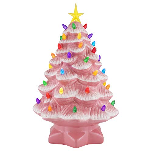 Mr. Christmas Nostalgic Christmas Tree 14'-Pink Holiday Decoration, One Size