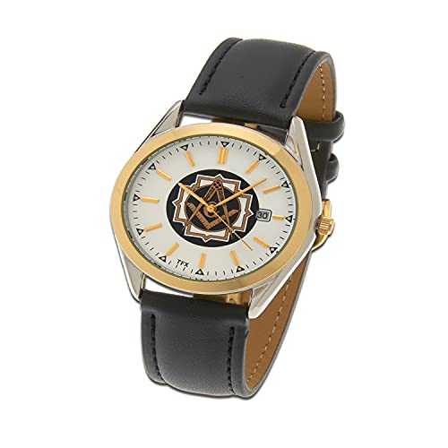 Men's Masonic Gold Plated Stainless Steel TFX by Bulova Master Mason Watch