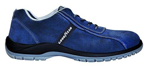 Goodyear G138/3052C Calzado (Piel Serraje), Azul, 43, Set de 2 Piezas