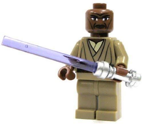 LEGO Star Wars: Mace Windu Minifigur mit lila Lichtschwert