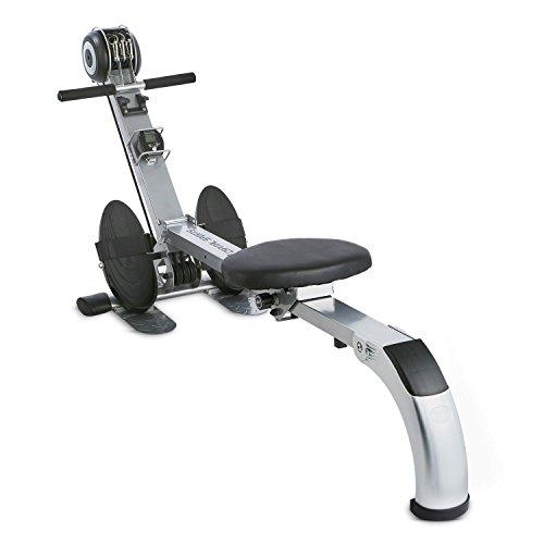 Capital Sports Stringmaster Rudergerät für Training von Arm-, Bein-, Bauch- und Rückenmuskulatur, Trainingscomputer - Silber-schwarz