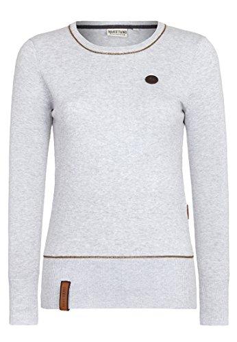 Naketano Damen Strickjacke Hammer Glocken III Pullover- Gr. Small, amazing grey melange