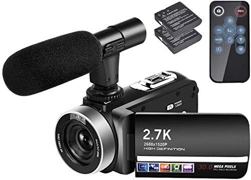 Videokamera Camcorder 2,7 K 30 MP 3,0 Zoll 270 Grad Drehbarer Bildschirm 18-facher Digitalzoom Kamerarecorder
