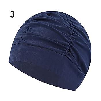 QWSX Bonnet de Bain 1 PC Fleurs de Mode imprimé Piscine Long Cheveux Sports Piscine Piscine Baignoire Chapeau élastique Nylon Turban Hommes Femmes Sport Accessoire Confortable et Doux (Color : 3)