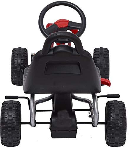 Pendelachse Autorennen Pedal Spielzeug für draußen,Red
