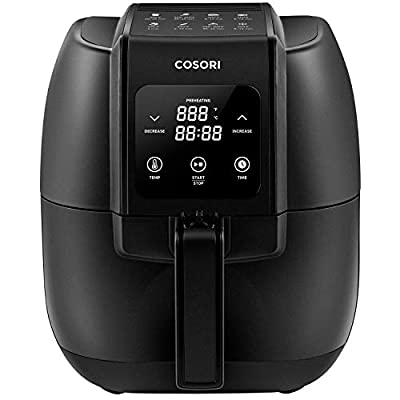 COSORI Air Fryer,1500-Watt Electric Air Fryers oven&Oilless Cooker for Roasting,LED Digital Touchscreen Preheat W/Quick Reference Guide,Nonstick Basket,2-Year Warranty,Recipe Cookbook Included,3.4QT (Renewed)