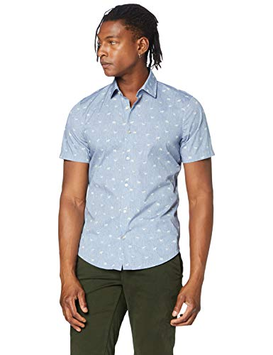 BOSS Rash Camisa, Gris (Light/Pastel Grey 52), Medium para Hombre