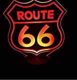 Route 66 Led Table lamp neon Sign Nuevo 3D neon 6 colores diferentes