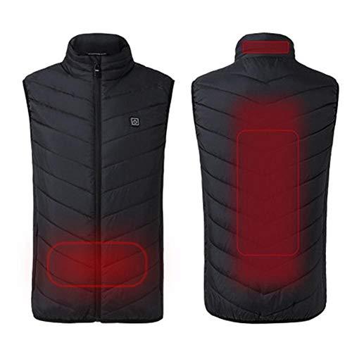 Weier Ben verwarmd vest voor buiten, met USB-verwarming, wintervest, warm vest voor camping, trekking, jacht, voor dames en heren L.