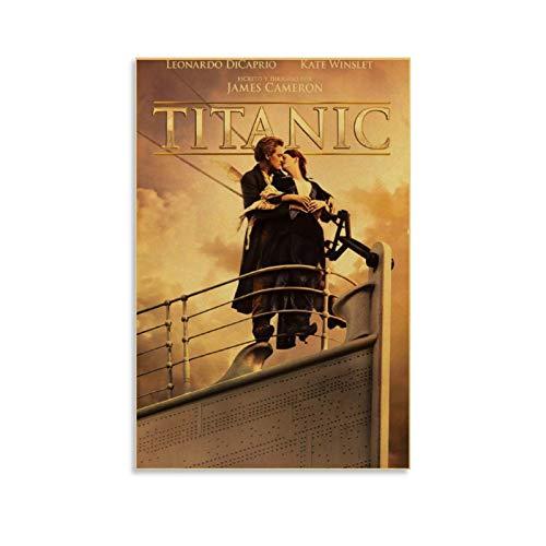 GDFG Titanic Blu Ray Cover Art 4k HD Leinwand-Kunst-Poster und Wand-Kunstdruck, modernes Familienschlafzimmerdekor, 20 x 30 cm