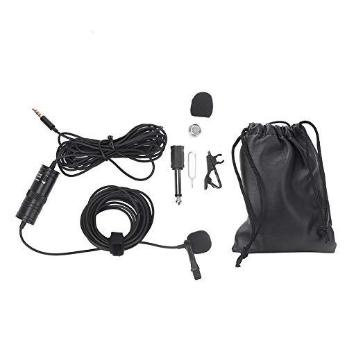 Revers-Lavalier-Mikrofon, Revers-Lavalier-Clip-On-Spiegelreflexkamera-Mikrofon, Clip-On-Reversmikrofon Omnidirektionales Kondensator-Lavalier-Mikrofon für die Aufzeichnung von Audio-Video-Produktions