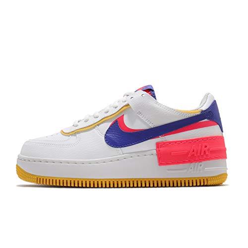 Nike Zapatos de mujer Air Force 1 Shadow CI0919-105, (Summit Blanco/Flash Crimson/Azufre Oscuro/Astronomía Azul), 37.5 EU