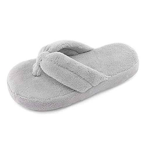 MK MATT KEELY Zapatillas de Casa para Mujer Chanclas Antideslizantes de Felpa Dedos Abiertos