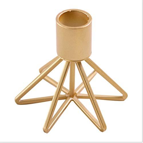 LPOQW Candelabro de una sola cabeza geométrica candelabro titular clásico decoración de mesa candelabro candelabro cena props,dorado