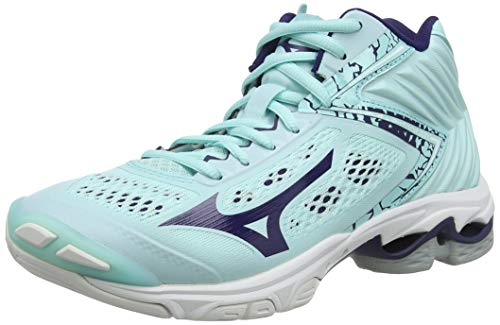 Mizuno Damen Wave Lightning Z5 MID Volleyballschuhe, Blau (BlueLight/AstralAura/BlueTurquoise 28), 39 EU