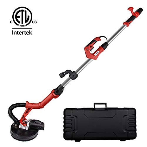 VIVOHOME Foldable 710W Electric Adjustable Variable Speed Drywall Sander Machine with LED Light Tool Case ETL Safety Standard Certified