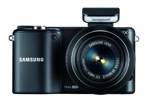 Samsung NX2000 Systemkamera Set (20,3 Megapixel, 9,4 cm (3,7 Zoll) LCD-Display, HDMI, WiFi, USB 2.0, inkl. 20-50 mm i-Function Objektiv, Zweitakku, Samsung 16GB microSD Karte, Adobe PS Lightroom) schwarz