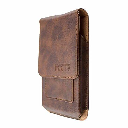 caseroxx Handy Tasche Outdoor Tasche für Ulefone Power 5, mit drehbarem Gürtelclip in braun