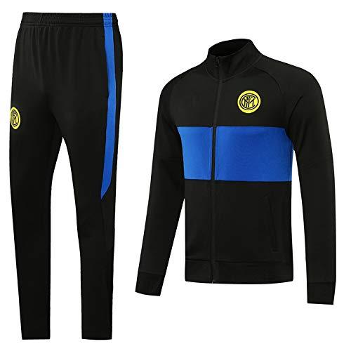 PARTAS Maglia Manica Lunga Calcio for Allenamento Tuta Inter for Adulti Sportivo Suit Calcio Regalo Ufficiale Jacket & Pants (Size : L)