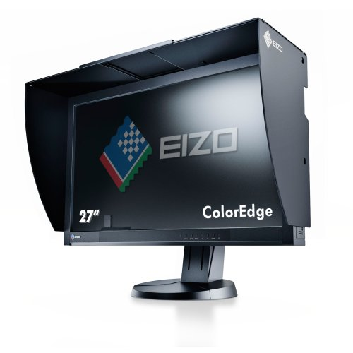EIZO ColorEdge CG277-BK 68,4 cm (27 Zoll) Grafik Monitor (DVI-D, HDMI, USB 2.0 Hub, DisplayPort, 6 ms Reaktionszeit, Auflösung 2560 x 1440, Wide Gamut) schwarz